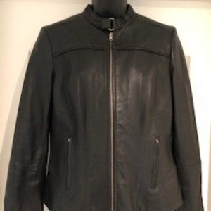 Lamarque Collection Leather Jacket Black Size S